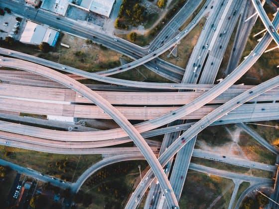 Abbilung Autobahn von oben